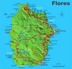 Flores Island Map
