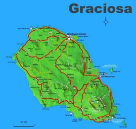 Graciosa Island Map
