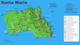 Santa Maria Island Map