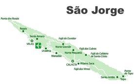 São Jorge Island Map