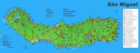 São Miguel Island Map