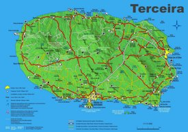 Terceira Island Map