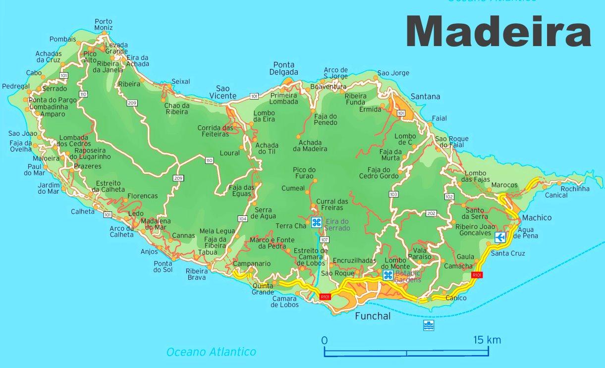 Map Of Madeira Madeira road map