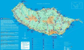 Madeira tourist attractions map