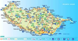 Madeira tourist map