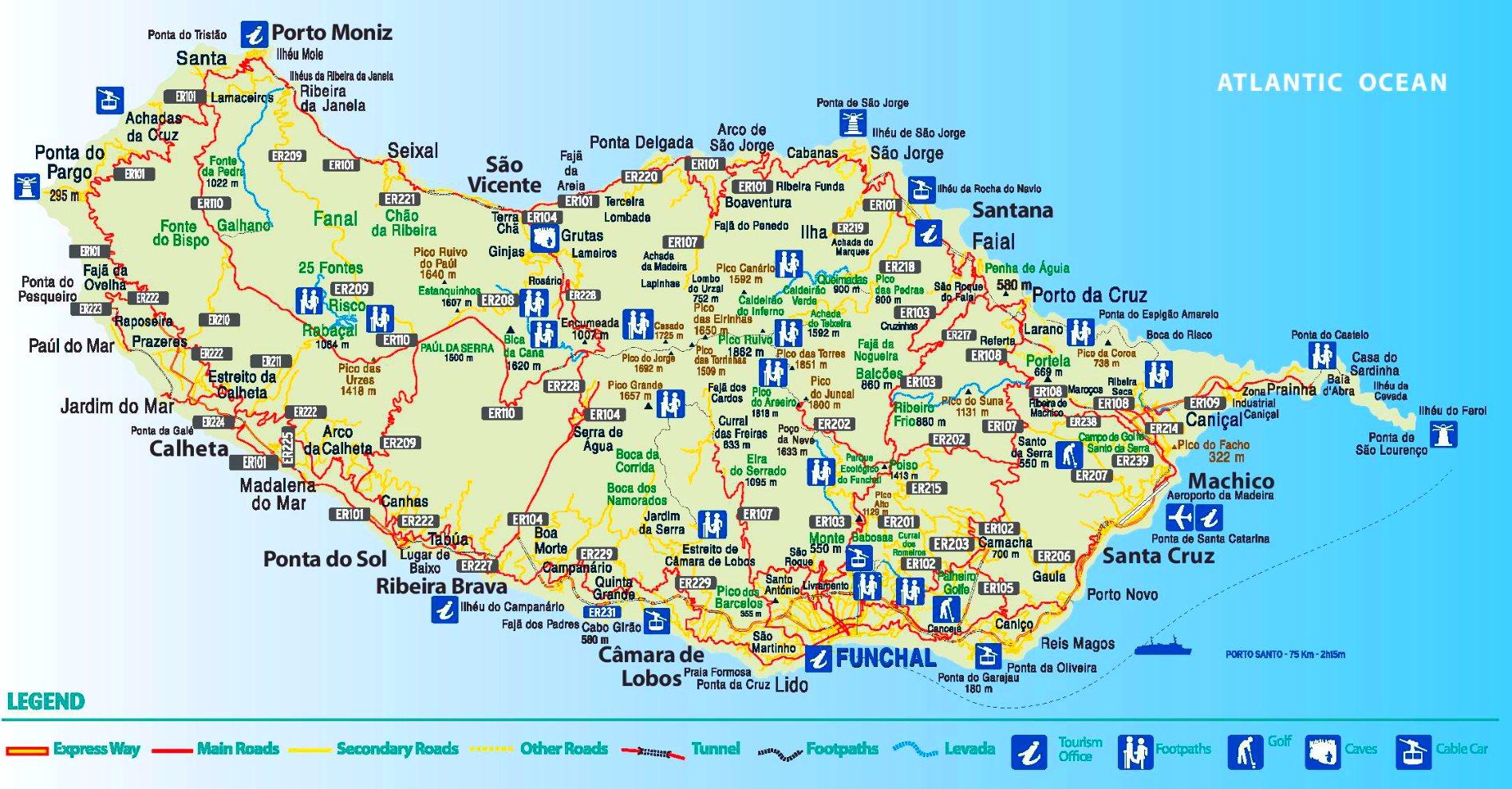 Map Of Madeira Madeira tourist map
