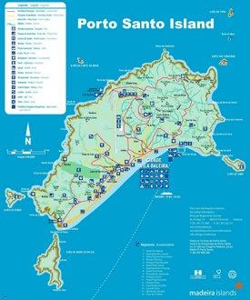 Porto Santo Island Map