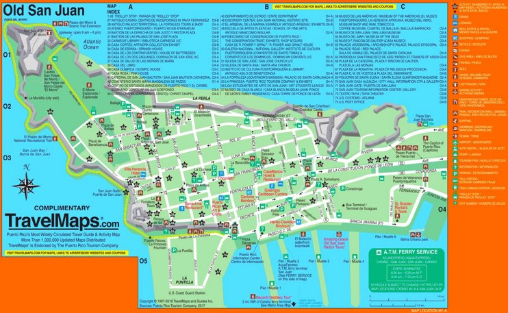 Old San Juan tourist map