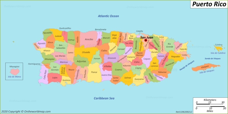 puerto rico detailed map Puerto Rico Map Maps Of Puerto Rico puerto rico detailed map