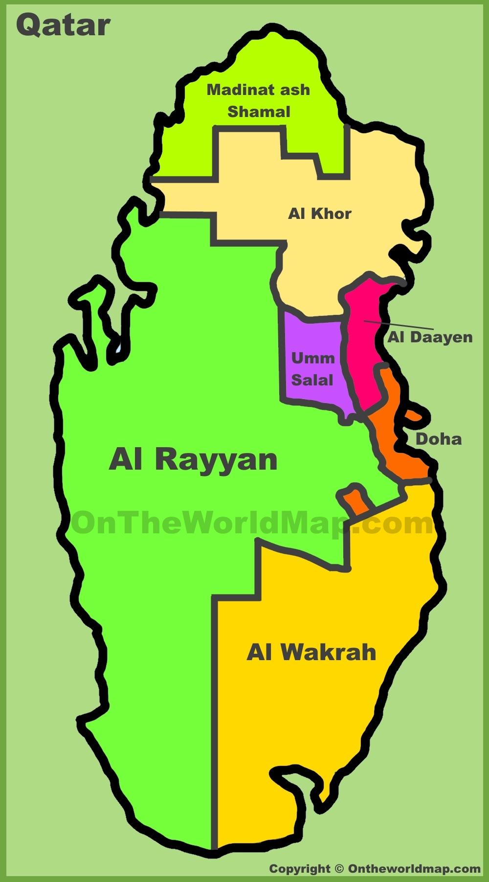 Qatar Maps Maps Of Qatar - Qatar map