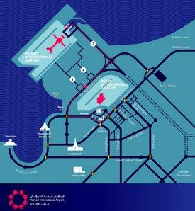 Doha Airport (Hamad) Location Map