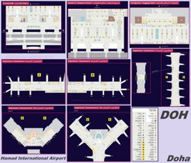 Doha Airport (Hamad) Map