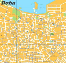 Doha city center map