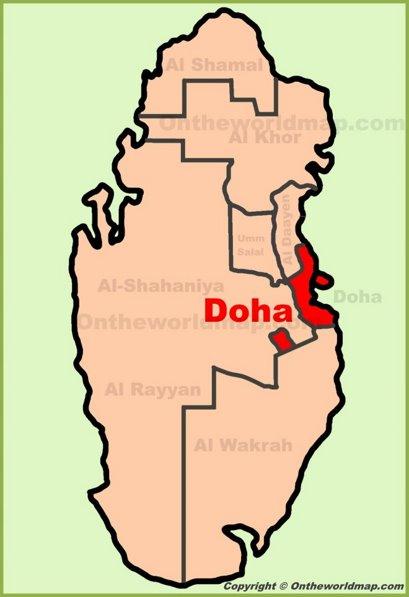 Doha Location Map