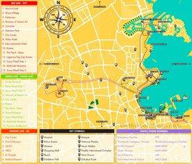Doha tourist map
