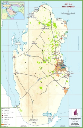 Qatar tourist map