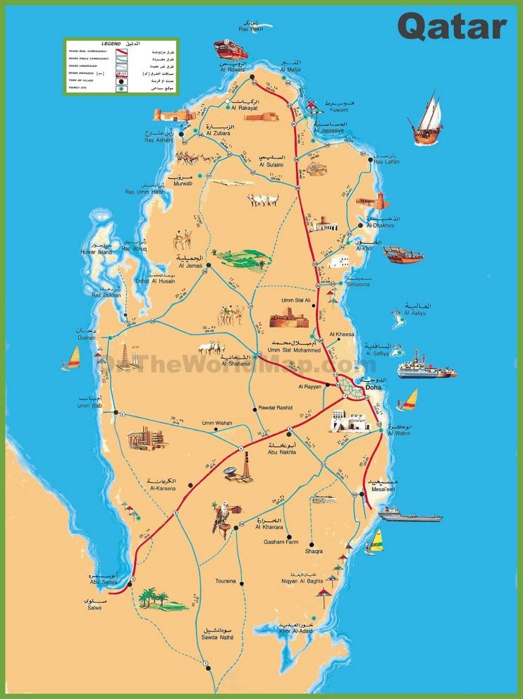 Qatar travel map