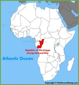 Republic of the Congo location on the Africa map