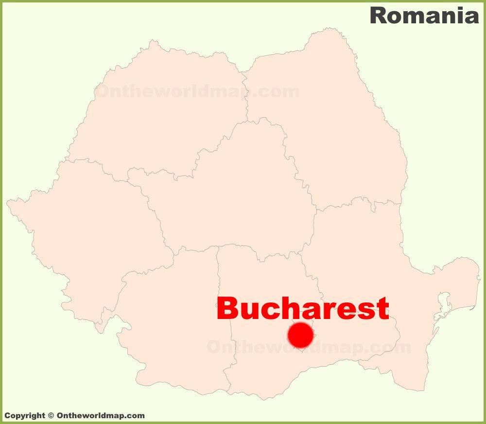 Bucharest location on the Romania Map