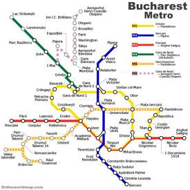 Bucharest Metro Map