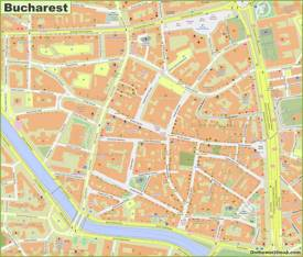 Bucharest Old Town Map