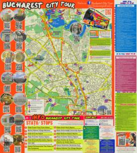 Bucharest Tourist Attractions Map