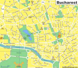 Bucharest Tourist Map