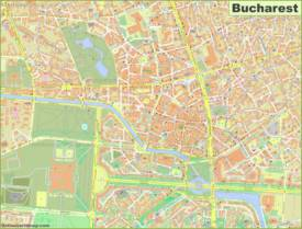 Detailed Map of Bucharest City Center