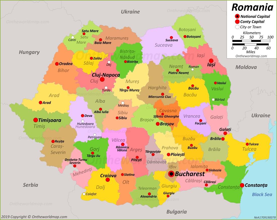 Image of: Romania Maps Maps Of Romania