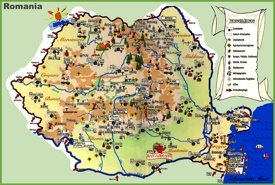 Travel map of Romania