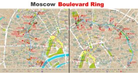 Moscow Boulevard Ring Map