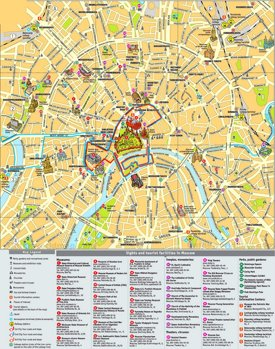 Moscow city center map