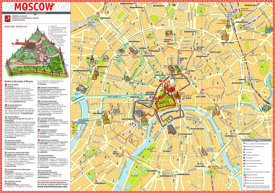 Moscow excursions map