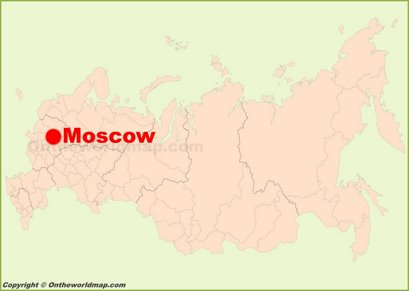 Moscow Location Map