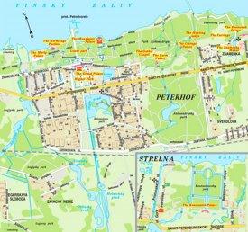 Peterhof tourist map