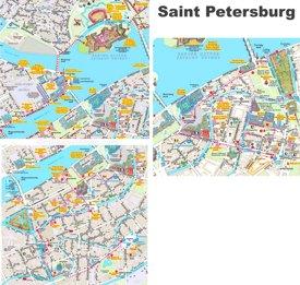 Saint Petersburg city center map