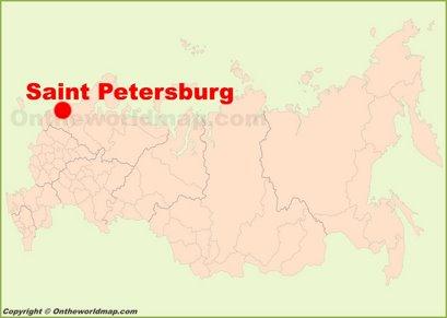 Saint Petersburg Location Map