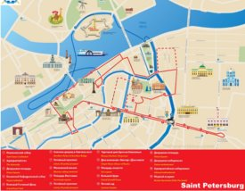 Saint Petersburg sightseeing map