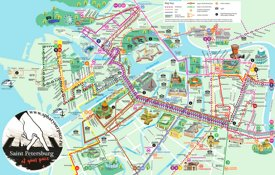 Saint Petersburg tourist attractions and transport map