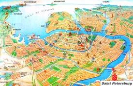 Saint Petersburg tourist map