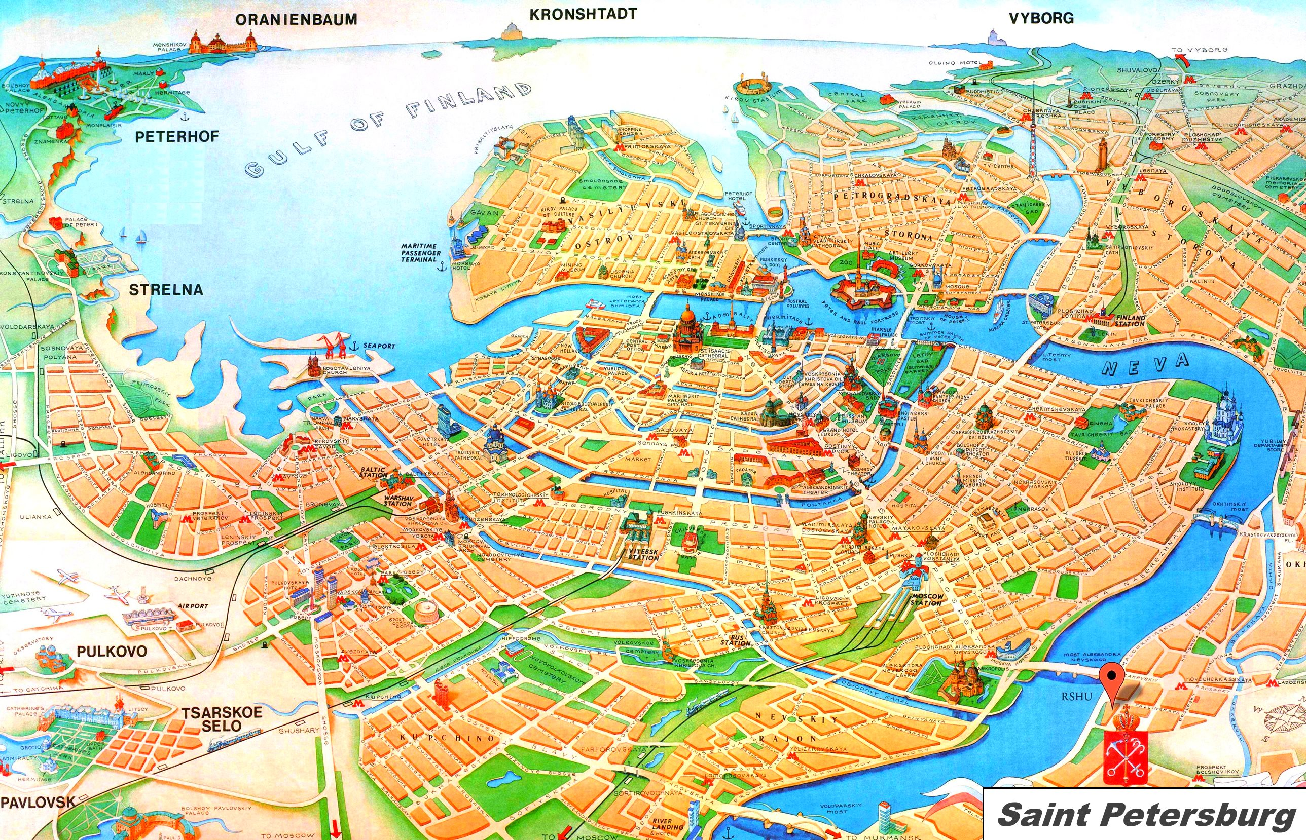 Saint Petersburg Tourist Map