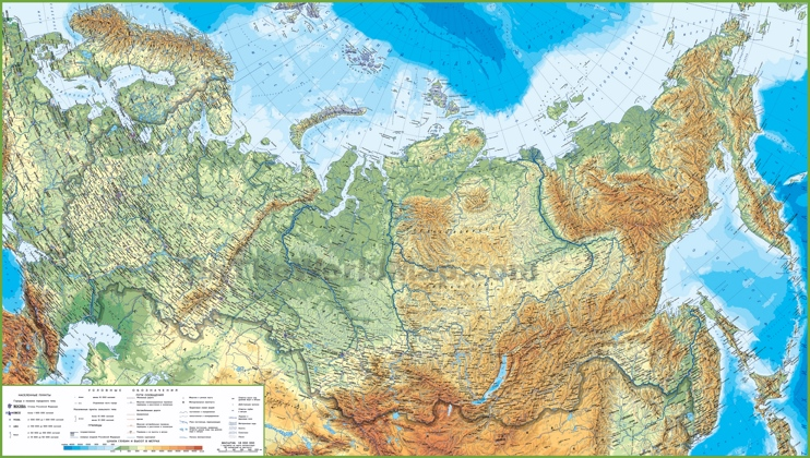 Large detailed map of Russia with cities and towns