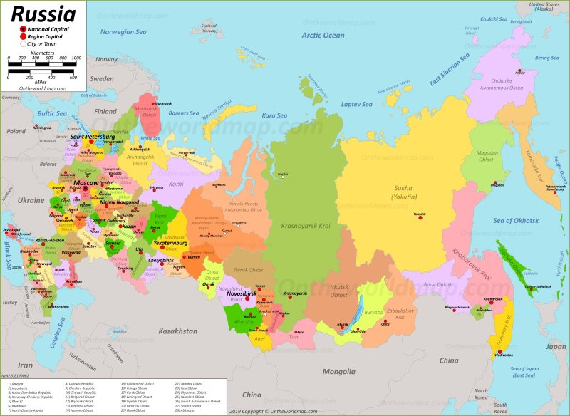 Russia Maps | Maps of Russia (Russian Federation)