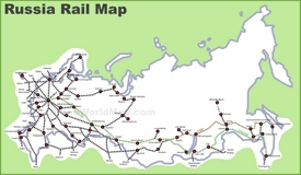 Russia rail map