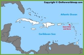 Saint Kitts and Nevis location on the Caribbean map
