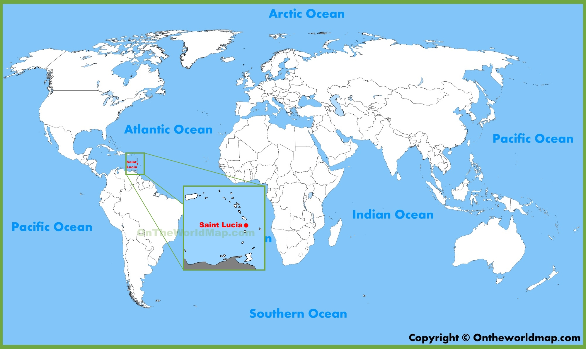 Saint Lucia Map Saint Lucia island Maps | Maps of Saint Lucia