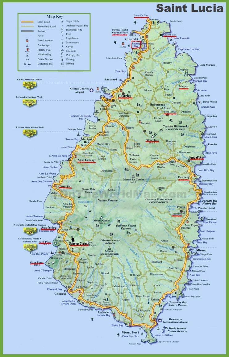 Lucia Island Map