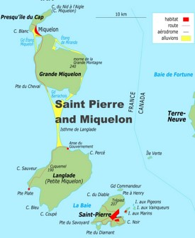 Detailed map of Saint Pierre and Miquelon