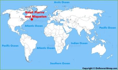 Saint Pierre and Miquelon Location Map