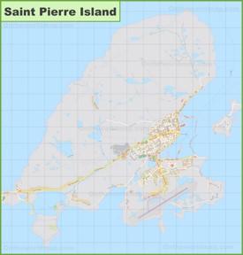 Saint Pierre Island map